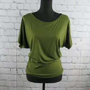 NWT - Short Sleeve Dolman Top - Forest Green
